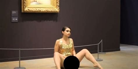 Performance Artist Does Impromptu Reenactment Of The Origin Of The World Yes That Painting