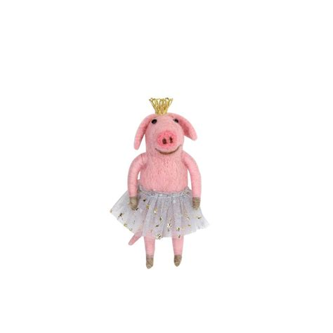 gisela graham pink ballerina pig christmas decoration