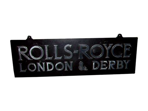 Scarce Rolls-royce London And Derby Cast Iron Dealership