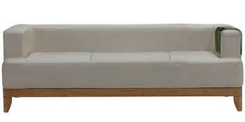 Sofa Set Online Shopping by Plunge Three Seater Synthetic Leather Sofa In White Colour