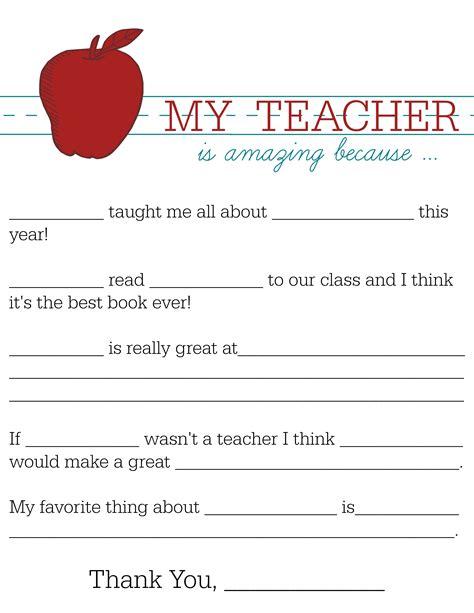 Teacher Appreciation Card Template  Resume Builder
