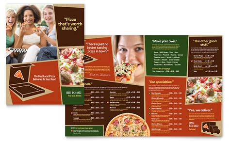 pizza pizzeria restaurant menu template word publisher