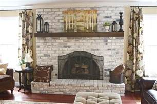 Whitewashing Fireplace Brick by The Yellow Cape Cod White Washed Brick Fireplace Tutorial