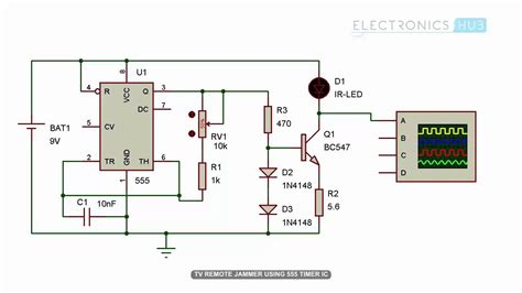 tv remote jammer circuit   timer ic youtube