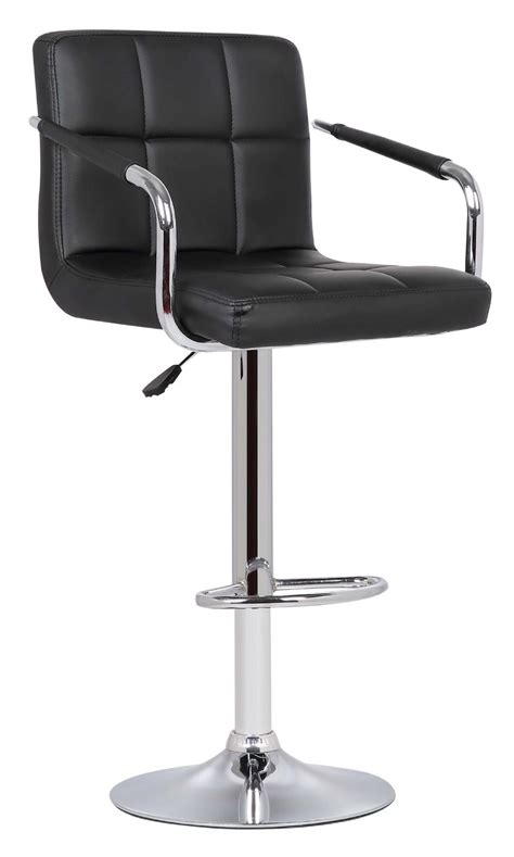 Cushioned Bar Stools With Arms by 1 Milan Black Faux Leather Padded Seat Bar Stool With Arms