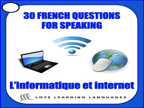 gcse french  french speaking prompts linformatique
