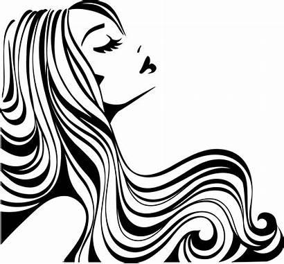 Salon Clip Hair Silhouette Getdrawings Transparent Clipart