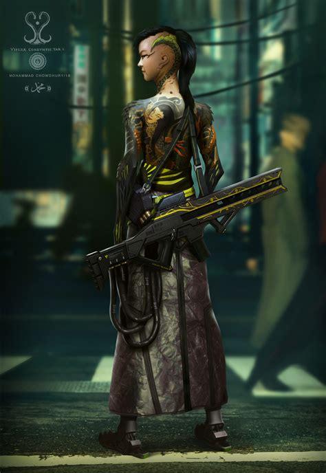 artstation biopunk yakuza mohammad chowdhury