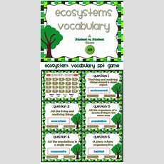 Ecosystems  A Vocabulary Ppt Game  Vocabulary Words, Definitions And You Ve
