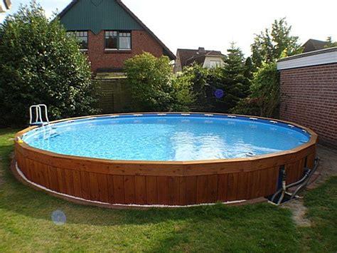 Intex Pool Eingegraben