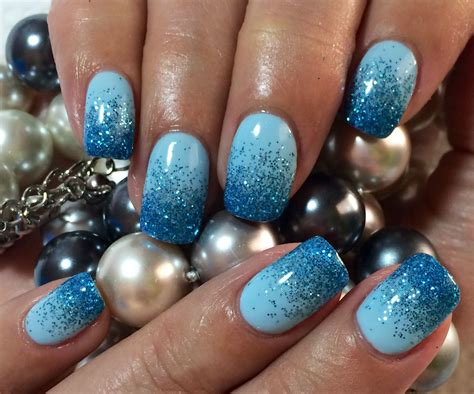 nagel gel guenstig  besten glitter fade nails faded