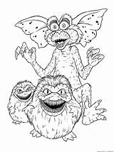 Coloring Pages Gremlins Halloween Gizmo Gremlin Monster Sheets Sketchite sketch template