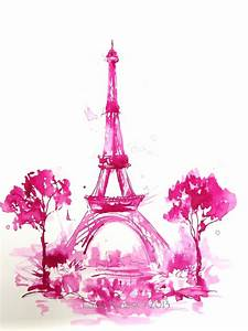 Pink Eiffel Tower Clipart - Clipart Suggest