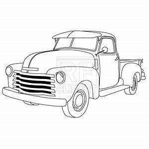 old american pick up truck vector illustration of With 1949 chevy step van