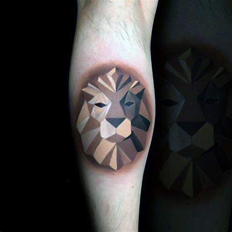 origami lion tattoo