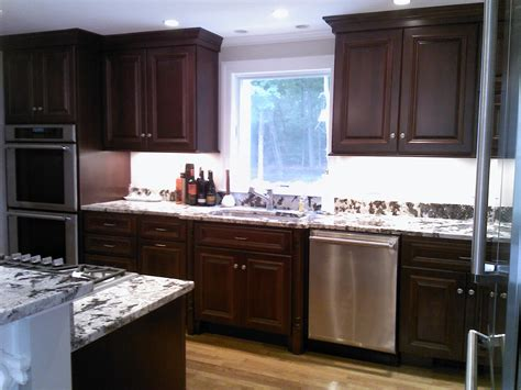 mahogany wood kitchen cabinets kitchen remodel before after 7 7327