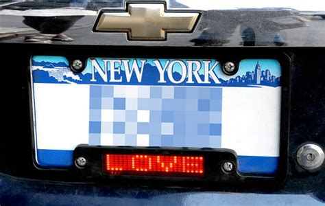 Led License Plate Frames Allow Communication, Draw