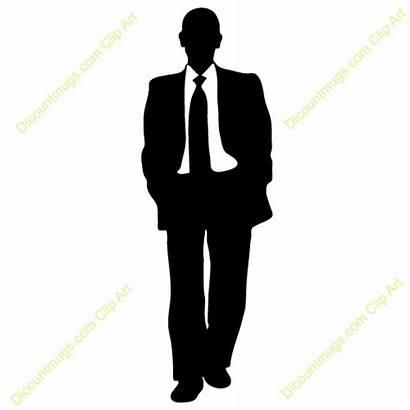 Businessman Clipart Modern Clip Business Attire Silhouette