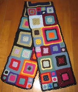 Granny Square Scarf  Aka What To Do With Those Babette