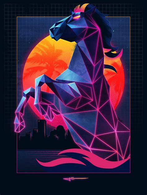 Watch This Design Wiz Make an Epic '80s Neon Laser Horse ...