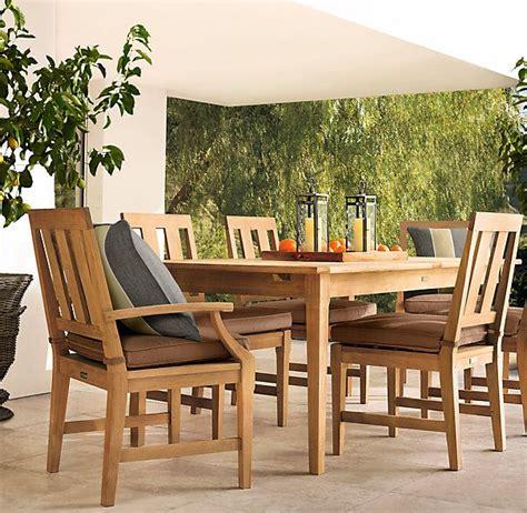 restoration hardwares teak outdoor furniture