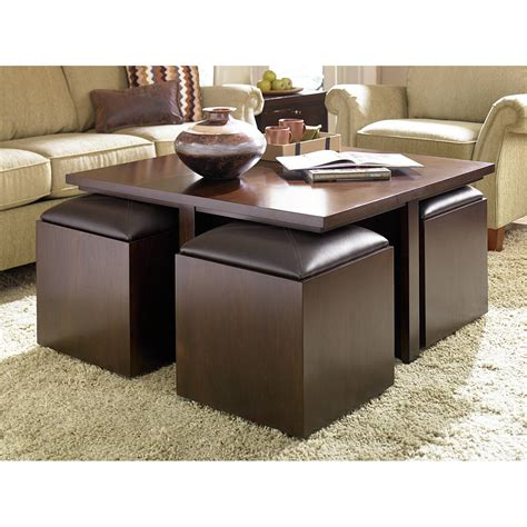 Brown leather ottoman coffee table. Best 30+ of Brown Leather Ottoman Coffee Tables With Storages