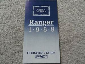 1989 Ford Ranger Quick Reference Guide Owners Manual