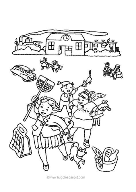 dessins de coloriage ecole primaire  imprimer