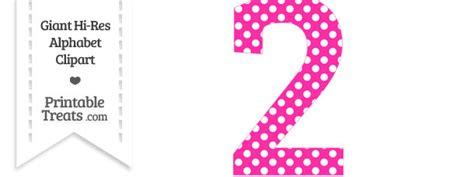 Hot Pink Polka Dot Number 2 Clipart