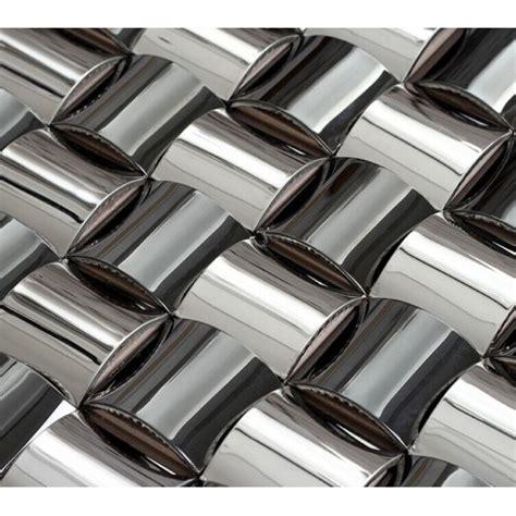 kitchen backsplash stainless steel tiles silver chrome stainless steel backsplash arched mosaic