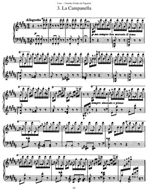 liszt piano sheet music s 141 etude no 3 la canella allegretto free sheet