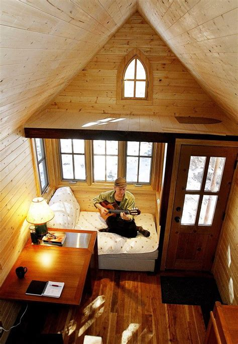 lovely tiny house   room designed  bed  attic