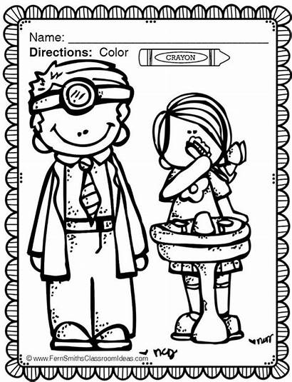 Dental Coloring Health Month Pages Sheets Teaching