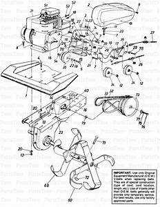 Mtd 211-381-205   Cultivator  1991   Garden King  Parts Diagram And Parts List