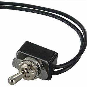 Spst Toggle Switch With Two 6 Inch Wire Leads On  Off Bulk