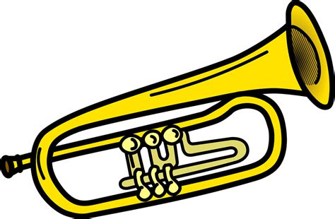 Trumpet Clipart Instrument Instruments Musical 183 Free Vector Graphic On