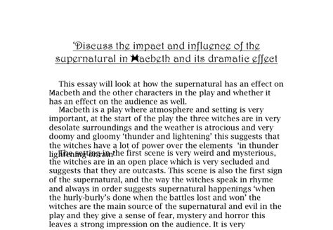 Macbeth Tragic Essay Thesis by Thesis Statement For Macbeth About Guilt Www