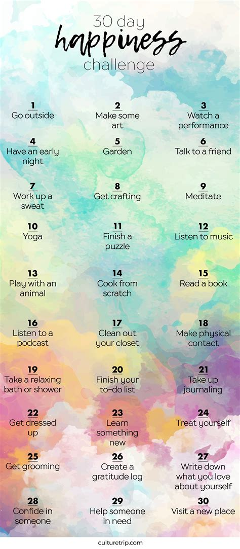 the 30 day happiness challenge health
