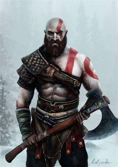 Artstation Kratos God Of War 4 Alejandro Castillejo