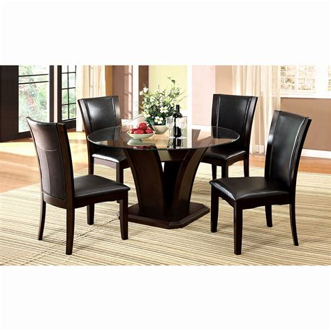round glass table with 4 chairs round glass dining table set elegant glass top dining