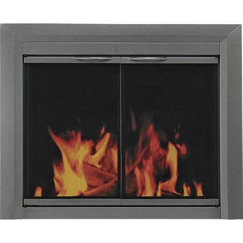 fireplace with glass doors pleasant hearth craton fireplace glass door for masonry