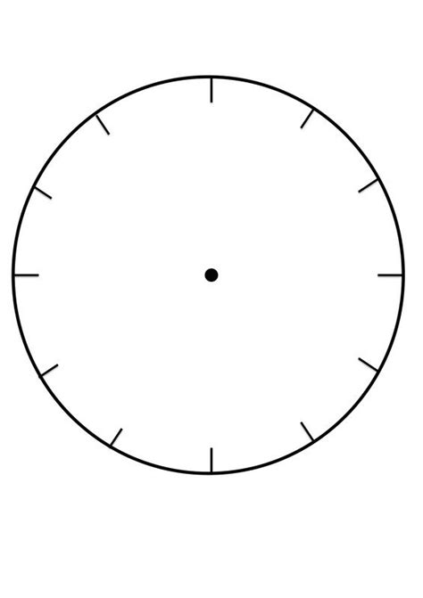 printable clock face template  learning