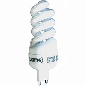 Taille Ampoule G9 : ampoule conomie d 39 nergie lightme 9 w forme spiral e 1 ~ Edinachiropracticcenter.com Idées de Décoration