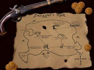 Real Pirate Treasure Map On Leather