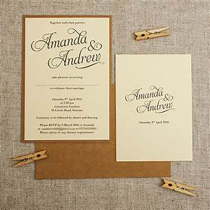 kraft cream rustic wedding invitations be my guest With country wedding invitations nz