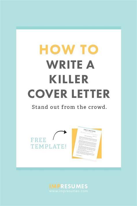quickly write  killer cover letter career