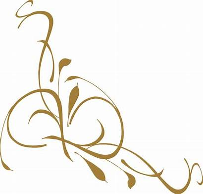 Gold Floral Clip Clipart Vector Clker Royalty