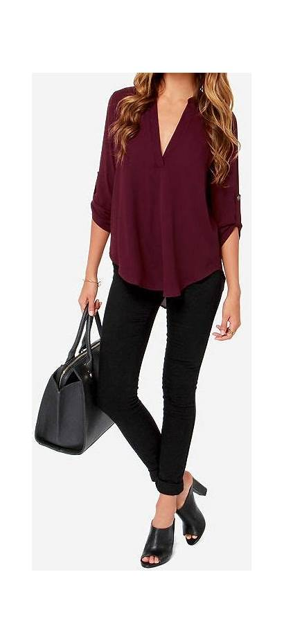 Burgundy Outfit Maroon Outfits Casual Tops Summer