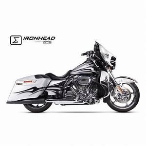 Harley Davidson Auspuff : auspuff ironhead schwarz harley davidson harley davidson ~ Jslefanu.com Haus und Dekorationen