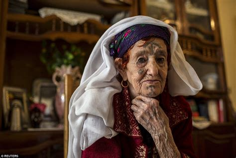 Pain Of Algeria's Tattooed Old Ladies Who Were Forced To